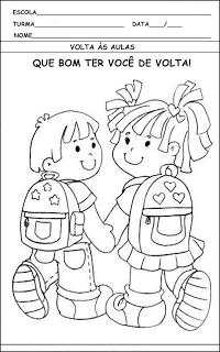 Volta As Aulas Atividades E Desenhos Para Imprimir Atividades