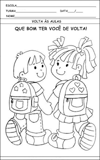 Volta às Aulas Atividades E Desenhos Para Imprimir Atividades