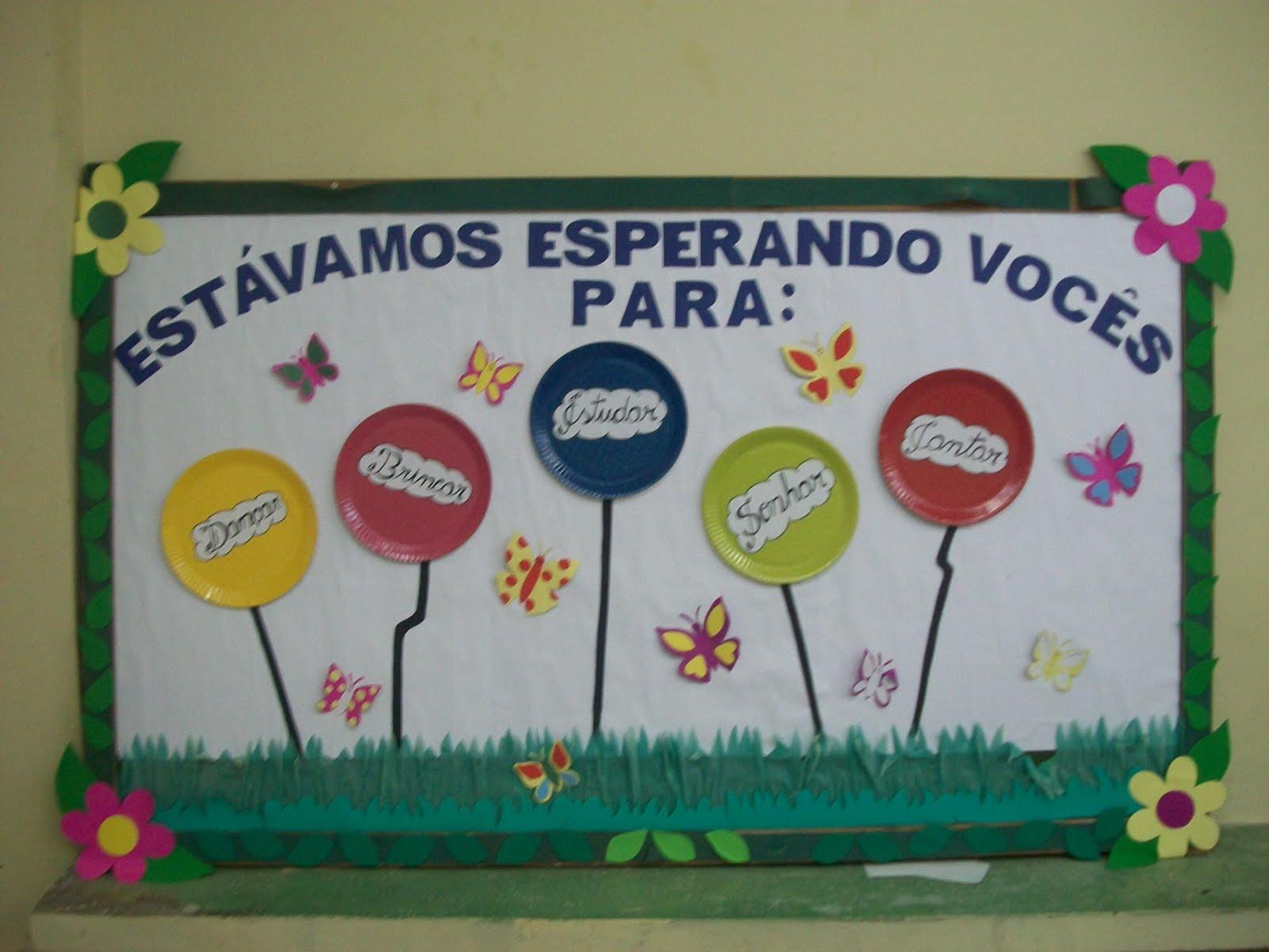 Pain is atividades jardim colorido para o ensino infantil for Mural sobre o meio ambiente