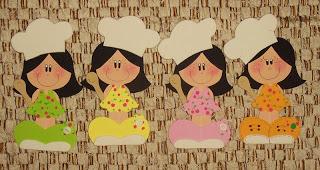Bonecas Vestidas De Cozinheiras Em Eva Atividades Jardim